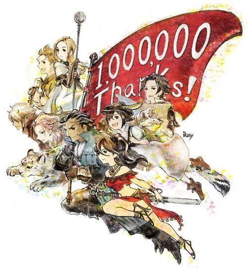 【速報】オクトパストラベラー、100万本突破!!! 新規IP、品切れの中での価値あるミリオン