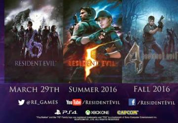【速報】 バイオハザード4、5、6 PS4/XboxOneで発売決定!!