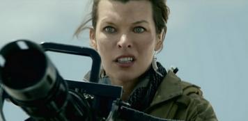 【画像】実写版「モンスターハンター」 ミラ・ジョヴォヴィッチが機関銃でディアブロスと戦ってしまう