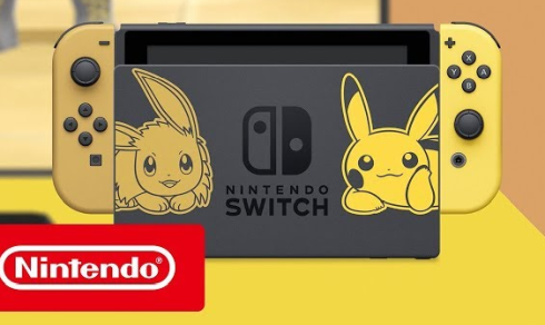 「ポケットモンスター Let's Go! ピカチュウ・イーブイ」仕様のNintendo Switchが発売決定!何これ可愛いwwww