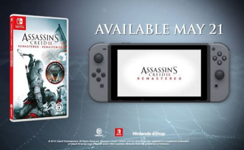 「アサシンクリード3 リマスター」比較動画や最新レビュー動画が公開!PC/XB1版発売開始、Switch/PS4版は5/23発売
