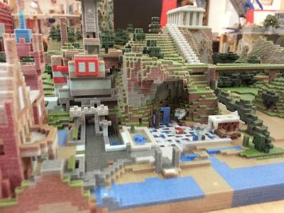 ゲームの世界がマジで現実に! 「Minecraft」のワールドを3Dプリンタで出力した作品がすごいwwww