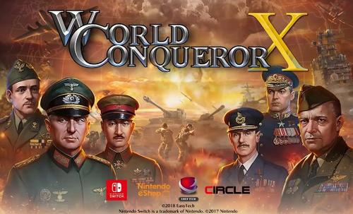 「世界の覇者X」がSwitchに登場!第二次大戦が舞台の本格ストラテジー(ターンベースの戦略)ゲーム 8/9発売、1000円