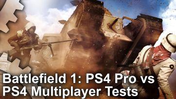 「バトルフィールド1」 PS4/PS4Pro パフォーマンス比較検証映像が公開!Proが10~15fps近いアドバンテージ