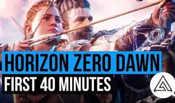 「Horizon Zero Dawn」 序盤40分超えの冒頭プレイ動画公開、ネタバレ注意!!