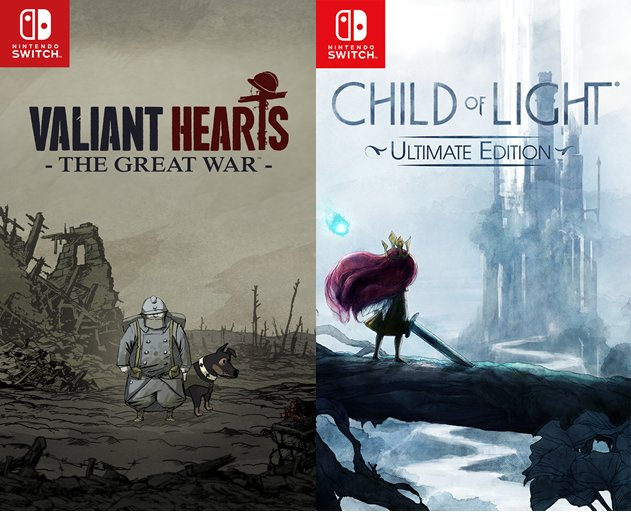 UBIソフトさん、Switch版『Child of Light』『Valiant Hearts』を発表!!