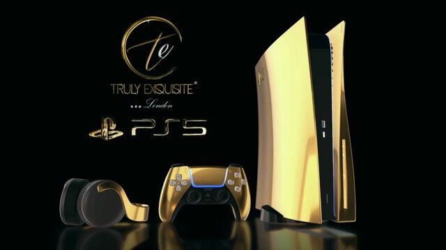 24Kの金で覆われた「PlayStation5 ゴールドエディション」を発表 値段は100万円以上?