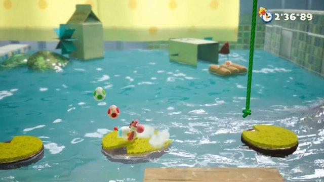 【画像】Switch新作「ヨッシー」の水表現がヤバすぎるくらい美麗!!