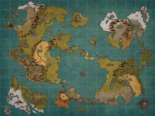 【朗報】ワイ、遂に架空の世界地図(RPG)を完成させる!
