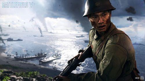 「バトルフィールドV」 日本軍が遂に登場!硫黄島やサイパンのイメージカットも  映画『父親たちの星条旗』の戦いをゲームで再現!!
