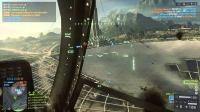 ワイBF4新人ヘリパイロット 分隊3人を乗せ戦場を飛ぶ