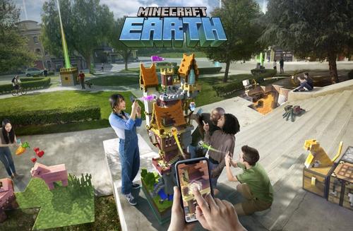 【驚愕】MSが仕掛ける「マインクラフト」の完全新作ARゲーム『Minecraft Earth』がヤバイ!スマホで遊べる基本無料のモバイルAR、全地球をマイクラ化!!