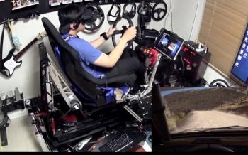 【驚愕】270万円かけてVRレースゲーム環境を整えた猛者が凄いwwww(動画あり)