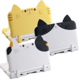 3DS LLをネコに変身させる変なカバー、 キタ━━━━(゜∀゜)━━━━ッ!!