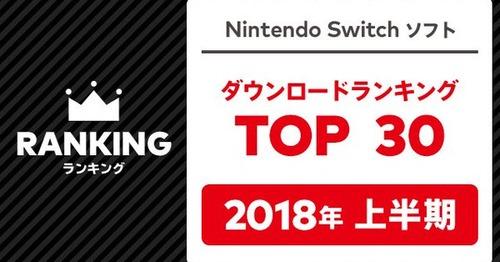 """Nintendo Switch 2018年上半期DLランキングTOP30 が発表!""""あのタイトル""""が強すぎるwwww"""