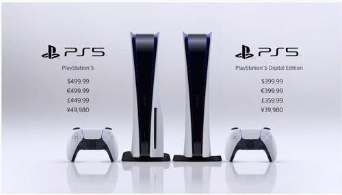 「PS5」 11/12発売 49980円/39980円 (税抜)