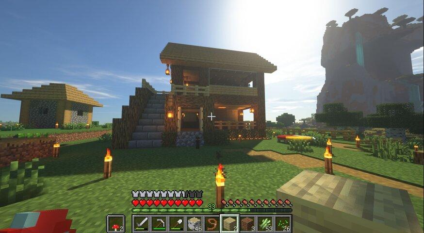 【画像】マイクラで初めて家作ったんやけど🤔