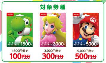 【朗報】ファミリーマートでニンテンドープリペイド最大10%プレゼント!