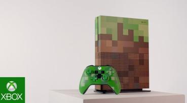 「マインクラフト」デザインの 『Xbox One S 1TB Minecraft リミテッド エディション』が数量限定で10/5国内発売決定!!