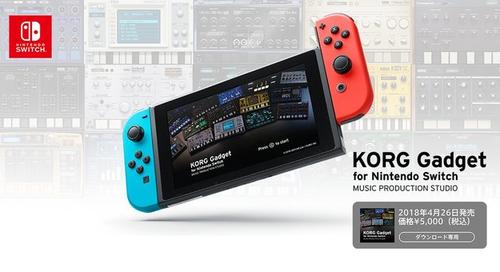 Switch向け本格音楽制作アプリ『KORG Gadget for Nintendo Switch』4/26発売決定!最大4人での曲作りバトルが可能