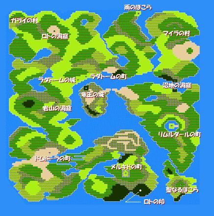 DQのマップ見たらわかるけど、FFはわからない説