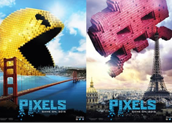 ファミコンキャラたちが地球侵略!ソニーが贈る大注目映画「ピクセル」最新映像が公開!車を蹴散らす巨大パックマン すげえwww!!