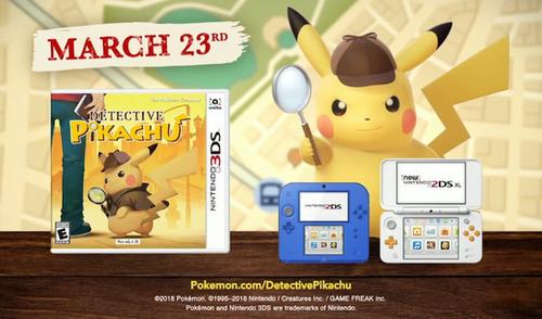 3DS「名探偵ピカチュウ」 海外版TVCMが公開!3/23発売、amiiboも同日発売