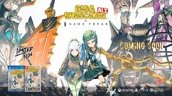 ゲームフリーク Switch/PS4「GIGA WRECKER Alt」発表!