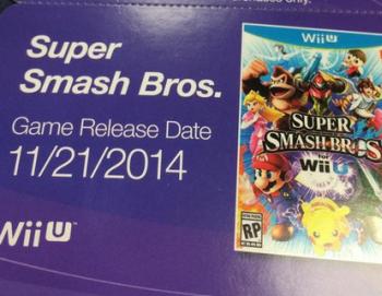 (噂)WiiU版「スマブラ」 発売日は11月21日!?店頭カードに発売日が記載