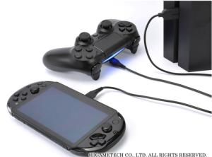 ゲームテック,「DUALSHOCK 4」を2台同時に充電できるPS4用USBケーブル『ダブルUSBケーブル4』を5/8に発売!!