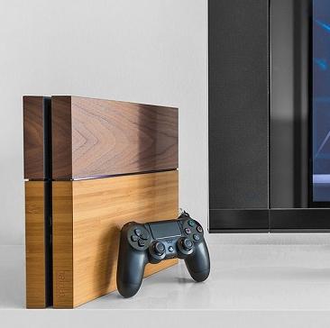 PS4がオシャレなインテリアに変身するウッドカバーが登場!高級感溢れる天然木を使用