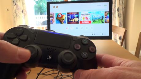 ニンテンドースイッチ-PS4コントローラー