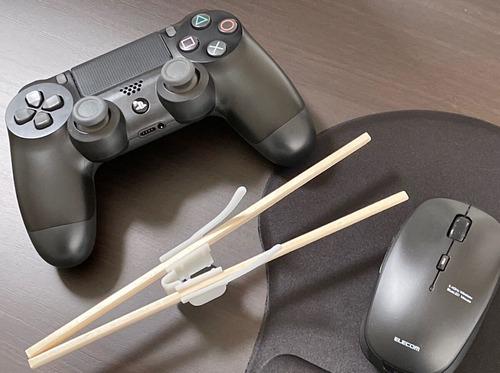 【特報】「ゲーミング割り箸ホルダー」爆誕!ポテチ食いながらゲームが捗る
