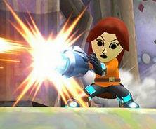「大乱闘スマッシュブラザーズ」 Miiファイター射撃タイプの横スマッシュ攻撃は最大のリーチを誇る!!