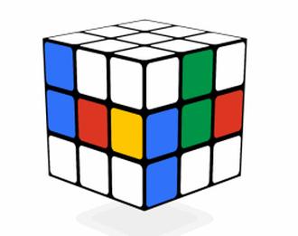 今日のGoogleトップページでルービックキューブが遊べるぞ!!