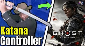 """【動画】PS4「ゴーストオブツシマ」をPS2「鬼武者3」の""""刀コントローラー""""でプレイする外人さんの動画が話題に!これは凄いwww"""