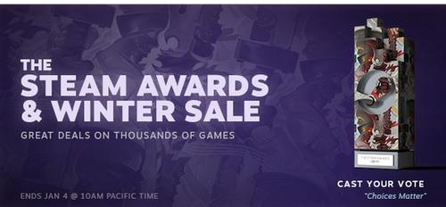 【チェック】Steamウィンターセール開催!年明け1/5午前3時まで、さまざまなPCゲームが一斉セール!!
