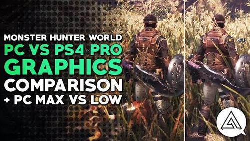 「モンスターハンターワールド」 PC/PS4/PS4 Pro 比較動画が公開!一番キレイなのはやっぱり