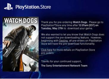 PS4予約ゲームの事前ダウンロードに標準で対応へ!秋の『Destiny』から