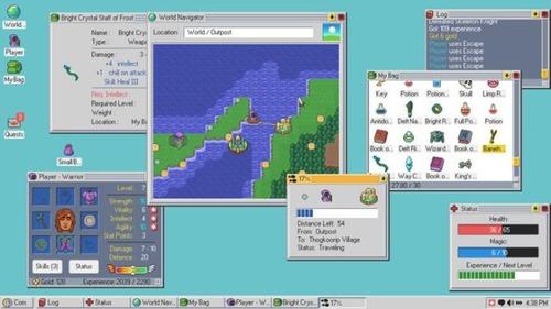 """【衝撃】Windows 95/98風のレトロな""""OS""""を使いこなして世界を救うローグライクRPG「Kingsway」が斬新すぎるwwww"""