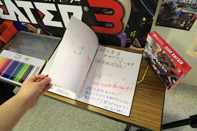 【画像】「ゴッドイーター3」 体験会の来場者ノートにVita版を望む声! 開発者はこれを無視するのか?