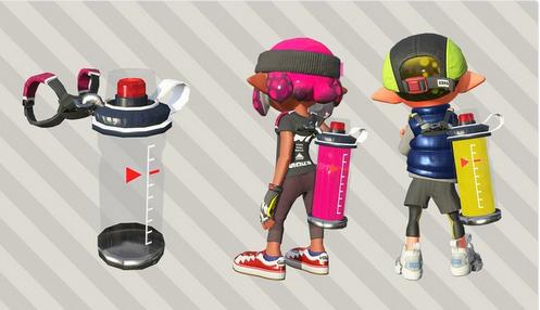「スプラトゥーン2」 バトルの必須アイテム、インクタンクも新しくなる