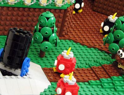 「スーパーマリオ64」の『ボムへいの せんじょう』をレゴブロックで見事に再現!!