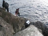 2011 初釣り 沖の島