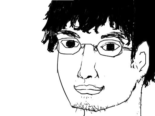 何となく自画像描いてみたwwwwww-087