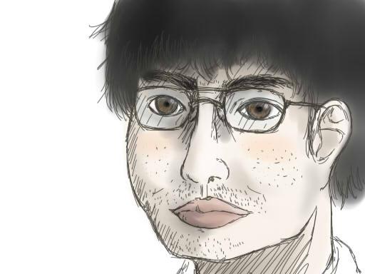 何となく自画像描いてみたwwwwww-039