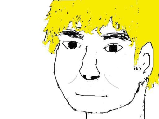 何となく自画像描いてみたwwwwww-023