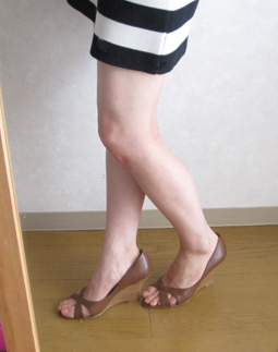 Javari.jp(ジャバリ)で注文した靴を試着中♪