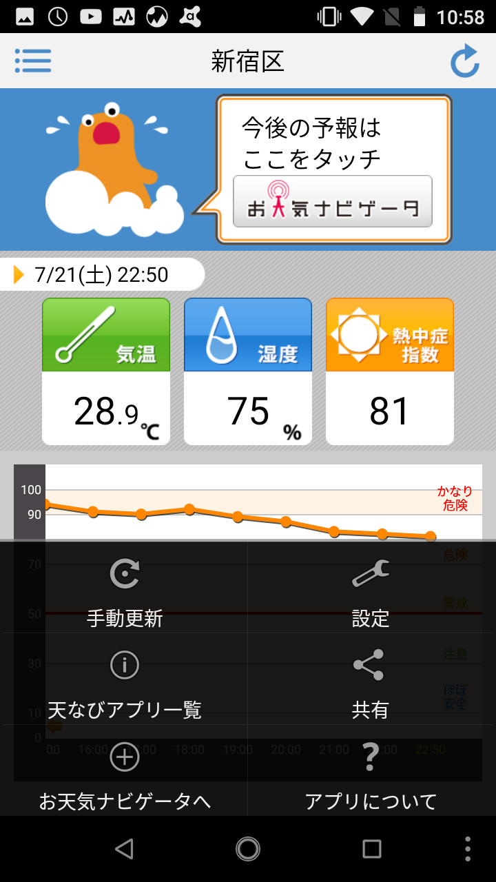 ナビゲーター お天気