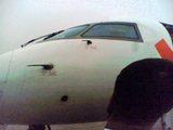 チンタオ行きの飛行機�